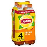 Lipton LIPTON Ice tea pêche - 4 x 1,5 L