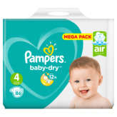 Pampers Baby Dry - Couches - Taille 4 - X86