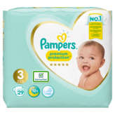 Pampers PAMPERS Premium Protection - Couches - Taille 3 - 5 à 9kg - x29