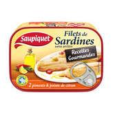 Saupiquet filets de sardines sans aretes aux 2 piments 100 g - ( Prix Unitaire ) - Envoi Rapide Et Soignée