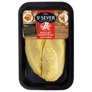 Filet de poulet jaune avec peau Saint Sever- x2