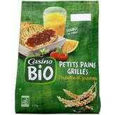 CASINO BIO Petits pains grillés - 5 céréales - Bio