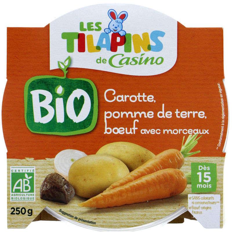LES TILAPINS BIO Carotte pomme de terre bœuf - Avec morceaux...