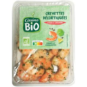 Crevettes décortiquées - Marinade au citron et coriandre - Biologique