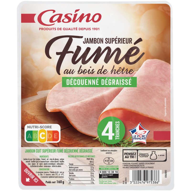 Jambon blanc superieur - Fumé - Viande de porc frança...