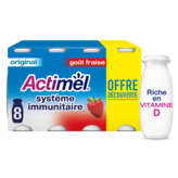 Actimel Danone  - Yaourt À Boire - Saveur Fraise - Vitamine B... - 8x100g