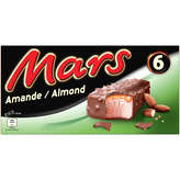 Mars Barres Glacés Chocolaté - Amande - X6