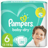 Pampers PAMPERS Baby-Dry - Couches - Taille 6 - x20