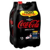 COCA COLA Zéro Soda cola avec édulcorant 4x1,5l
