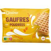 CASINO Gaufres poudrées - Aux œufs frais 260g