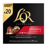 Maison du Café Or Espresso - Splendente - Intensité 7 - 20 Capsules - 104g