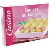 CASINO Endives au jambon 750g
