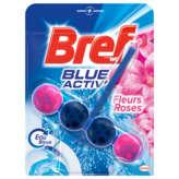 Bref BREF WC Blue activ - Bloc wc - Eau bleue - Parufm fleurs ros... - 50g