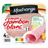 Madrange Mon Jambon Blanc Découenné Dégraissé - 4 Tranches - 160g