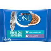 Purina One ONE Emincés pour chat d'intérieur - Thon haricots verts - ve... - 6,76€/KG