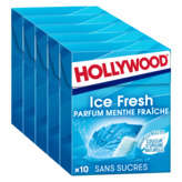 Hollywood HOLLYWOOD Ice fresh - Chewing-gum menthe fraiche sans sucres... - 70g