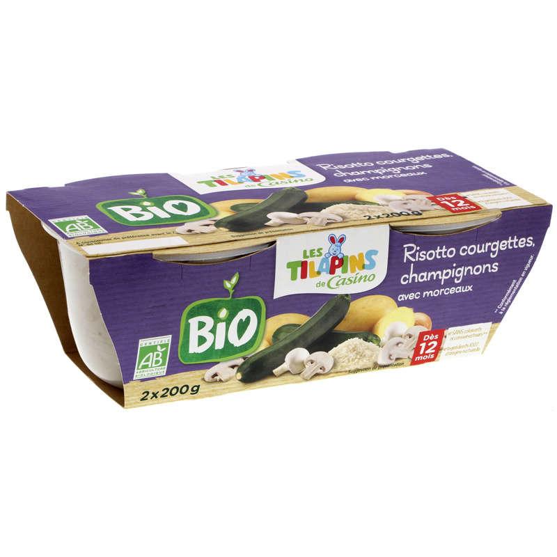 Risotto de courgettes champignons avec morceaux - Bol pour ...