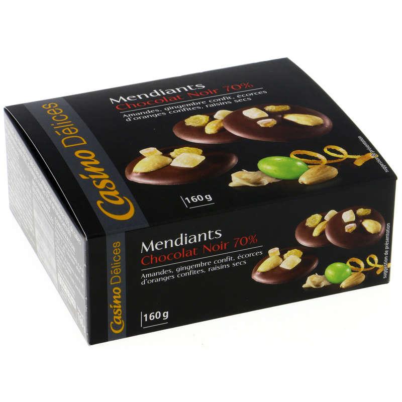 Mendiants - Chocolat noir 70%