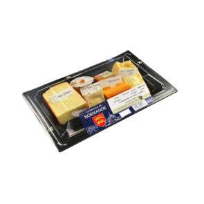 Assiette fromagère Normandie (Pavé d'Isigny, Livarot, Mimolette d'Isigny, Pont l'Evêque) - 24,1% mg