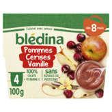 Blédina Compote - Pommes, Cerise, Vanille - De 8 À 36 Mois - 4x100g