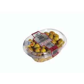 Olives vertes dénoyautées au piment d'espelette