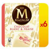Magnum Fraise & Blanc - Batonnets Glacés - Fraise Et Chocola...
