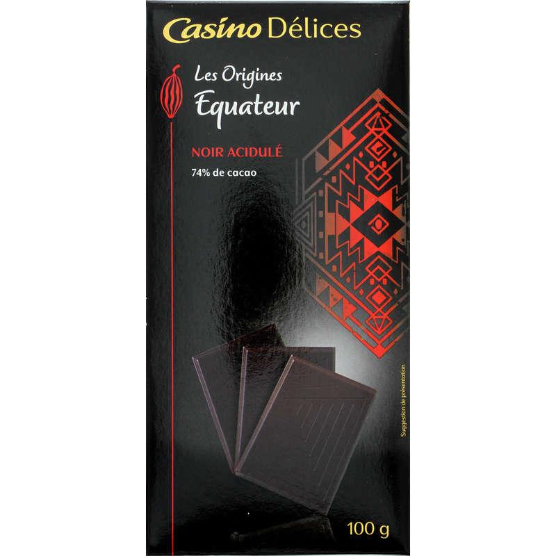 CASINO DELICES Tablette de chocolat - Noir - Equateur - Noir...