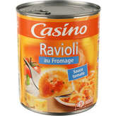 CASINO Ravioli - Au fromage - Sauce tomate 800g