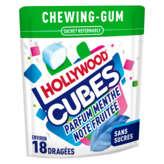 Hollywood Cubes - Chewing-gum - Parfum Menthe Note Fruitée - 41g
