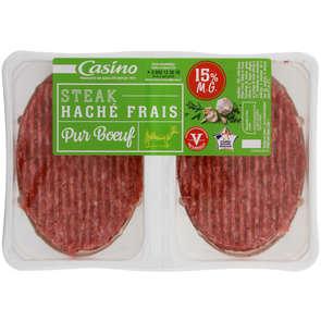 Steak haché pur bœuf - 15% mg