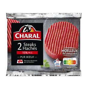 Steaks hachés - 15% mg