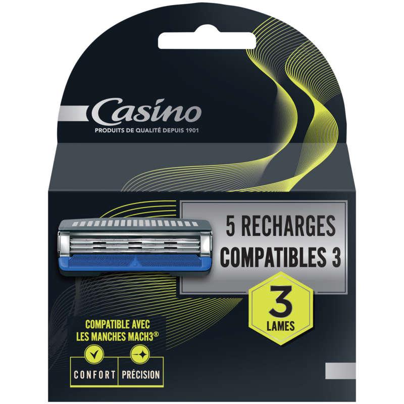 CASINO Lames - Recharges compatibles - 3 lames