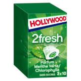 Hollywood Chewing-gum - Parfums Menthe Verte / Chlorophylle ... - 66g