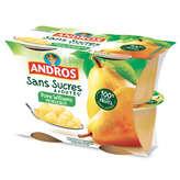 Williams Andros Compotes De Poires  - Avec Morceaux - 4x100g