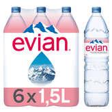 Evian EVIAN Eau minérale naturelle - Plate - 6x1,5l