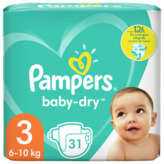 Pampers PAMPERS Baby-Dry - Couches - Taille 3 - x31