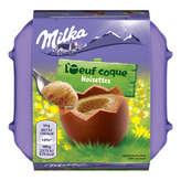Milka MILKA L'œuf coque - Œufs en chocolat - Noisettes - 136g