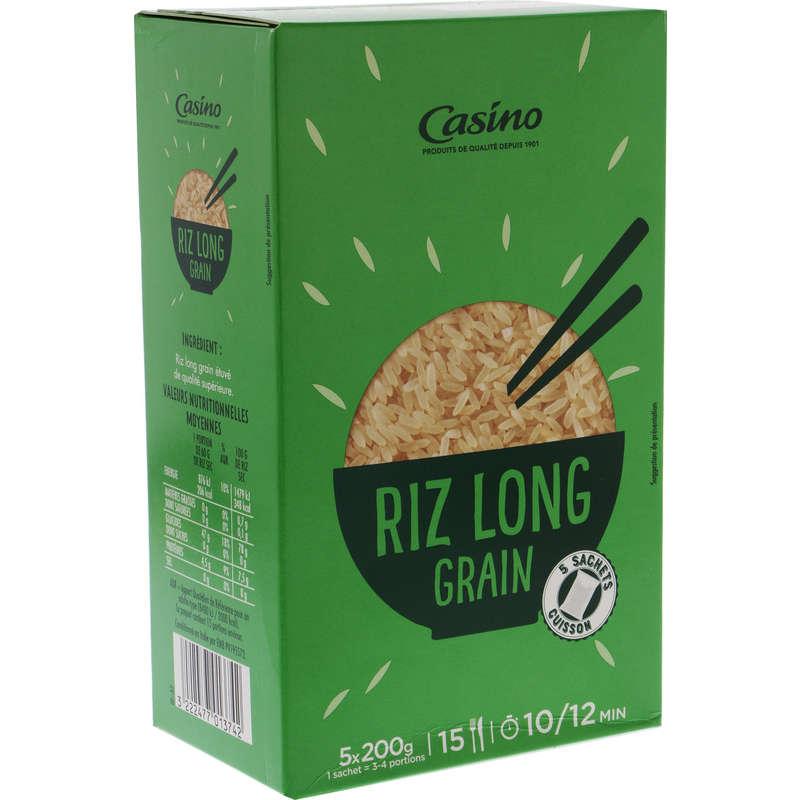 CASINO Riz - Long grain - Sachets cuisson