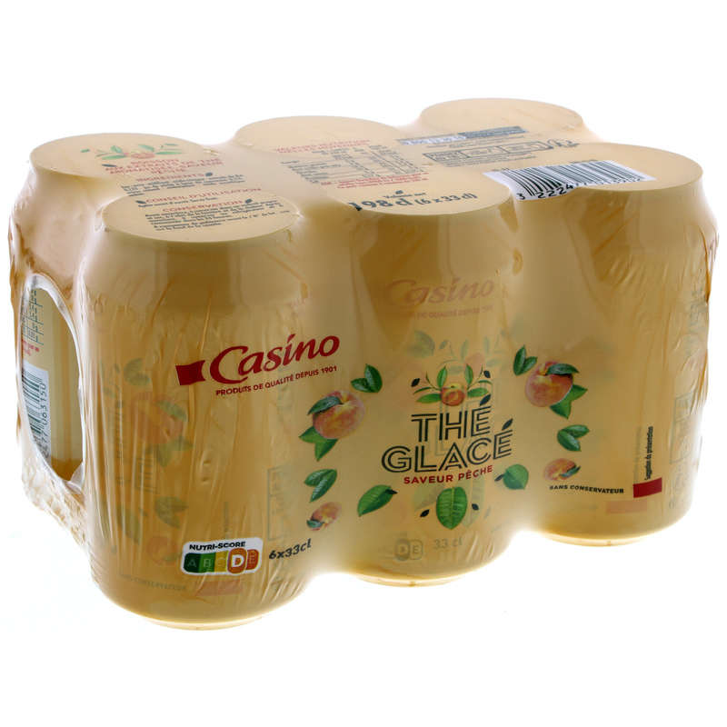 CASINO Thé glacé - Saveur pêche