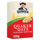 Quaker QUAKER Oats - Flocons d'avoine - 550g