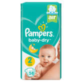 Pampers Baby Dry - Couches - Taille 2 - X58