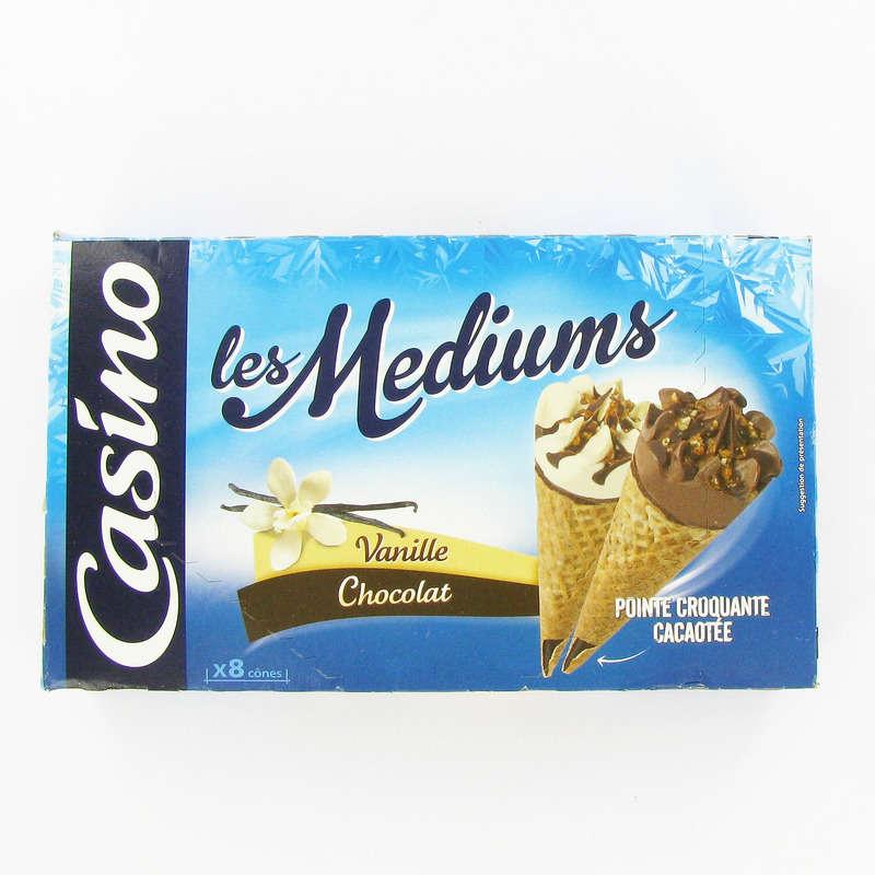 Les mediums - Cônes glacés - Vanille chocolat