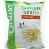 CASINO Haricots beurre - Extra-fins 1kg
