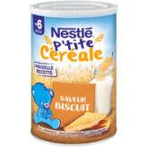 Nestlé P'tite Céréale - Céréales Biscuités - Dès 6 Mois - 400g