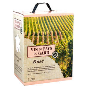 Vin de pays du Gard - IGP - Vin rosé - Bag-in-box