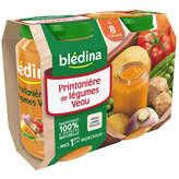 Bledina Pots Sales Printaniere De Legumes Veau 2X200G 8 mois - ( Prix Unitaire ) - Envoi Rapide Et Soignée