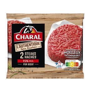 Haches de bœuf authentique 15%MG - x2