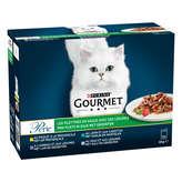 Gourmet GOURMET Perle - Les filettines avec des légumes pour chat - ... - 12x85g
