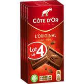 Côte d'Or Tablette De Chocolat - Au Lait - 4x100g
