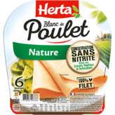 Herta Blanc De Poulet - Nature - 100% Filet - 6 Tranches - 180g